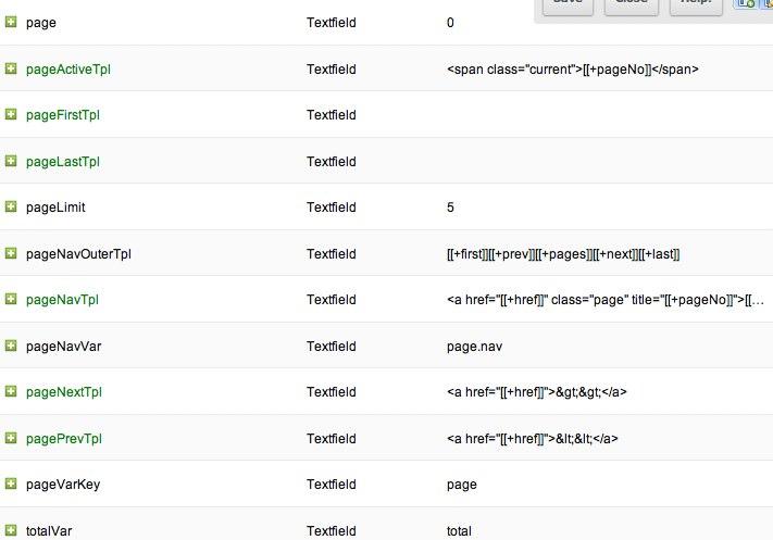 MODX Revolution getPage properties override