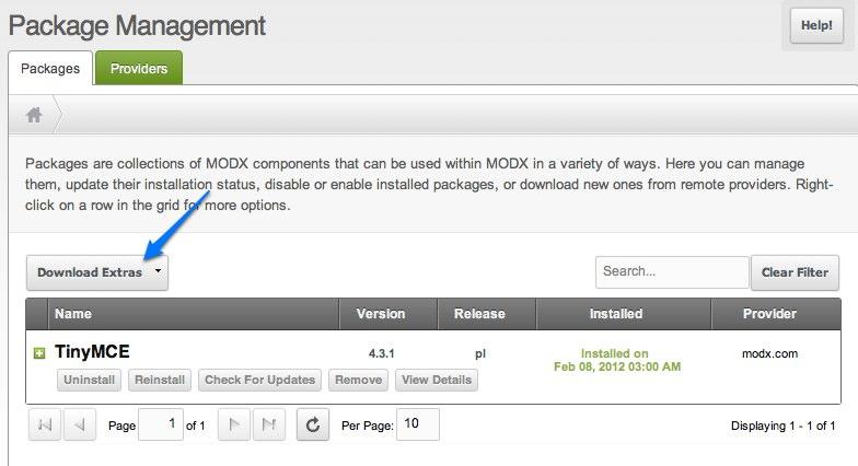 MODX Revolution snippets