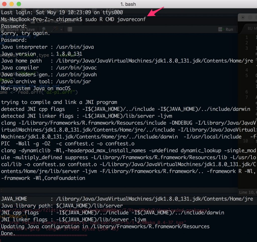 Installing RWeka Package in R on OS X – The Coding Pad